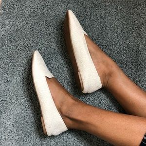 H&M White Lace Flats
